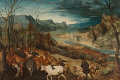 P. Brueguel L'Ancien, Le Retour du Tropeuau